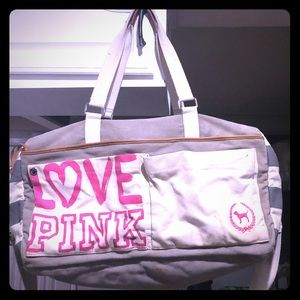 Used Victoria's Secret LOVE PINK duffel bag